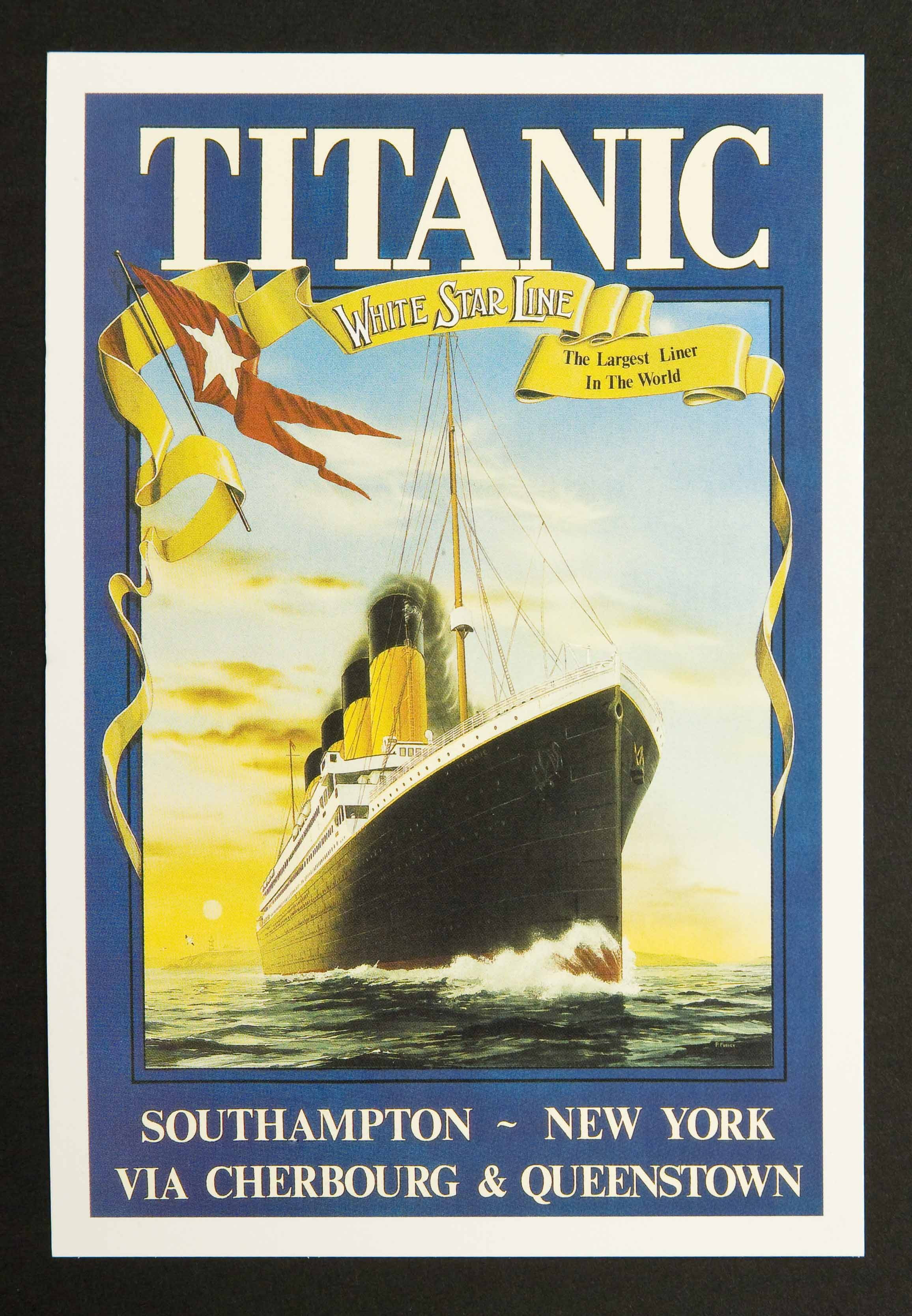 Titanic - White Star Line Sunrise Postcards (6)